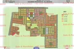 Gulberg Islamabad Block-A Map