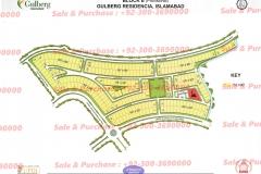 Gulberg Islamabad Block-E Map