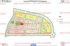 Gulberg Islamabad Block-Q Map