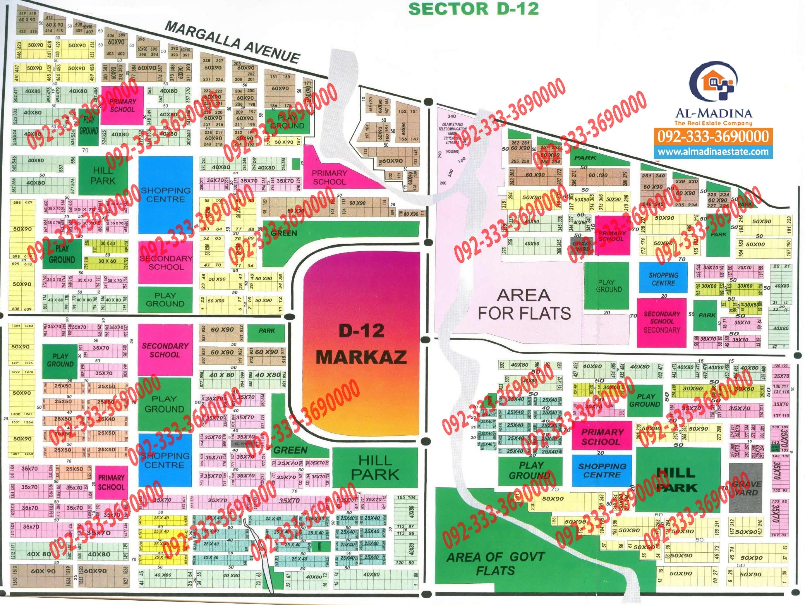 Islamabad maps - Bahria Town l Dha l Gulberg l Cda Sectors