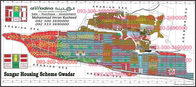 Sangar housing scheme Gwadar Maps