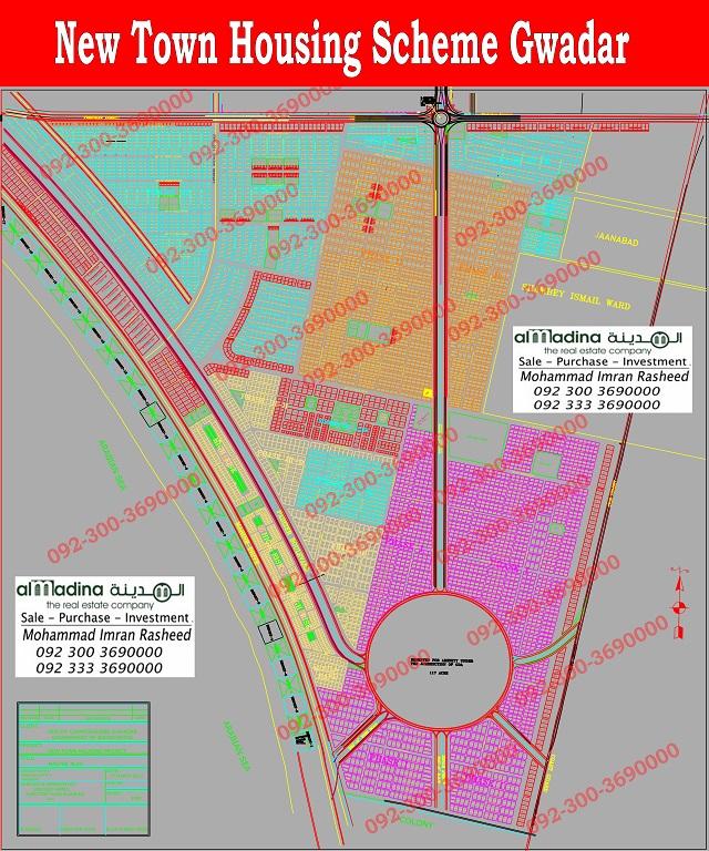 New Town housing scheme Gwadar Maps
