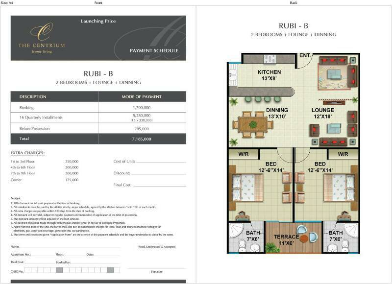 Bahria Enclave Islamabad 2 Bedrooms Apartments On