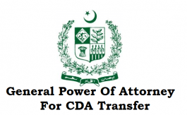 General Power Of Attorney For CDA Transfer
