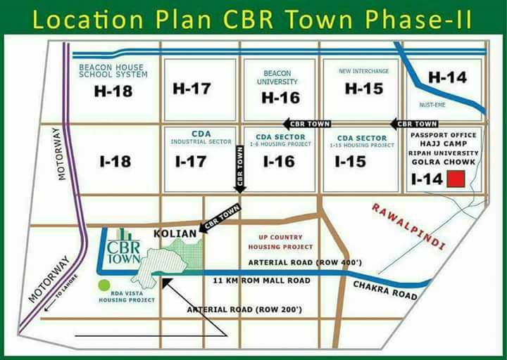 Location Plan CBR Town Phase 2