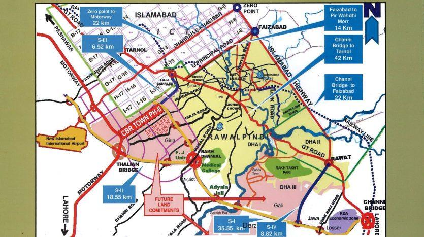 Noc phase 2 , CBR ECHS , Rawalpindi Layout Plan