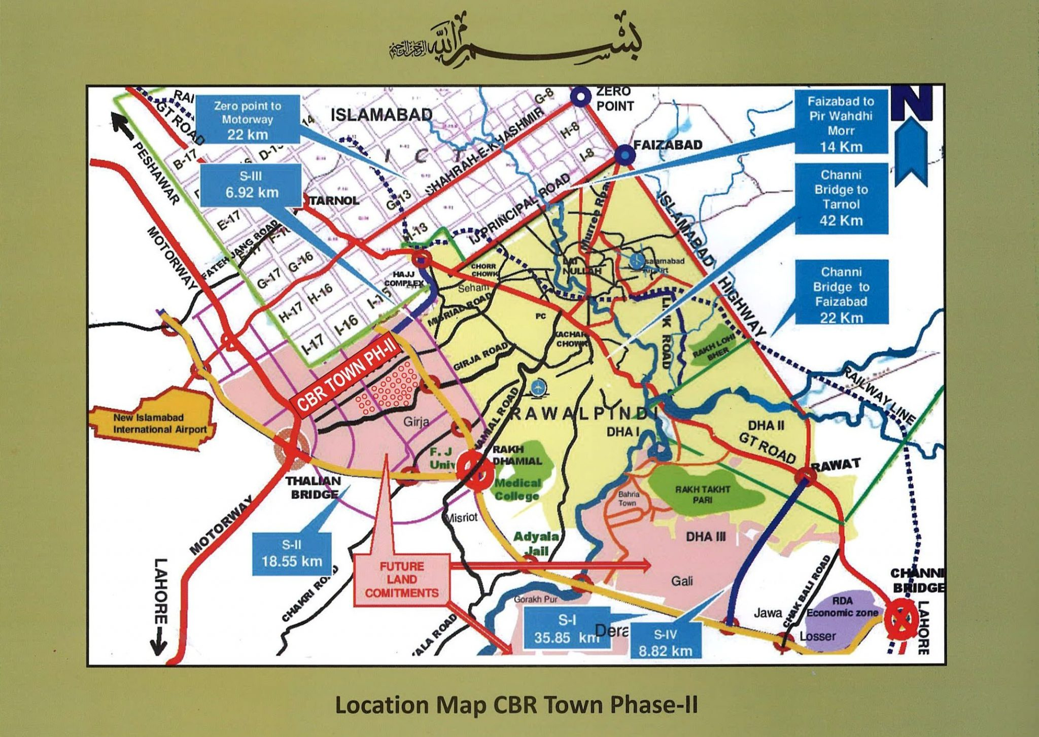 Noc phase 2 , CBR ECHS , Rawalpindi Layout Plan