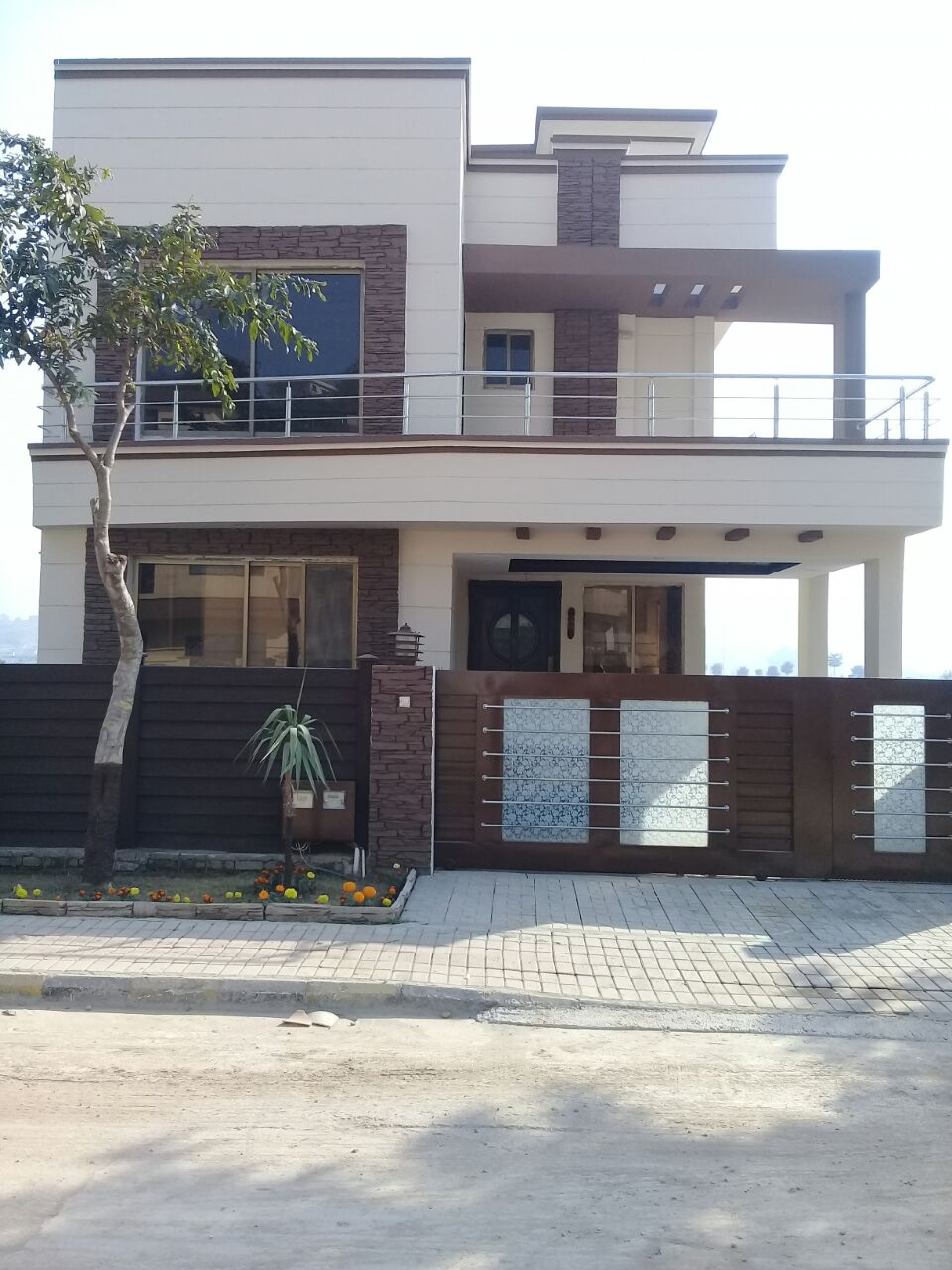 Front Elevation Duplex House : Marla house bahria town phase rawalpindi