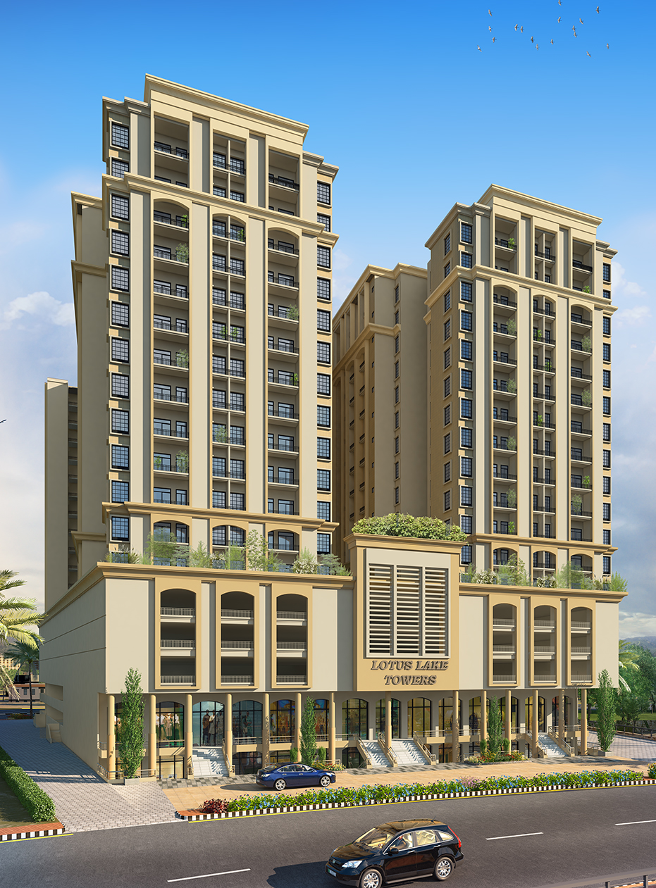 Lotus Lake Towers Front Elevation