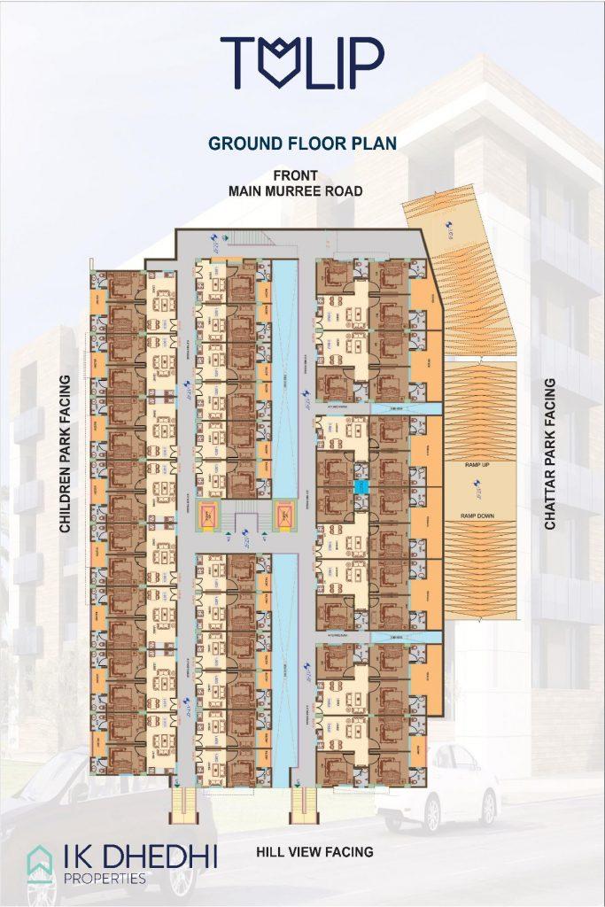 Tulip apartments Ground Floor Plan