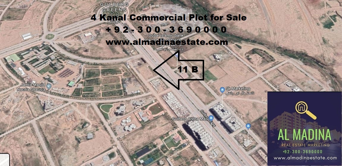gulberg greens islamabad commercial plot for sale