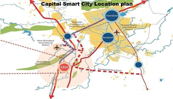 capital smart city location plan