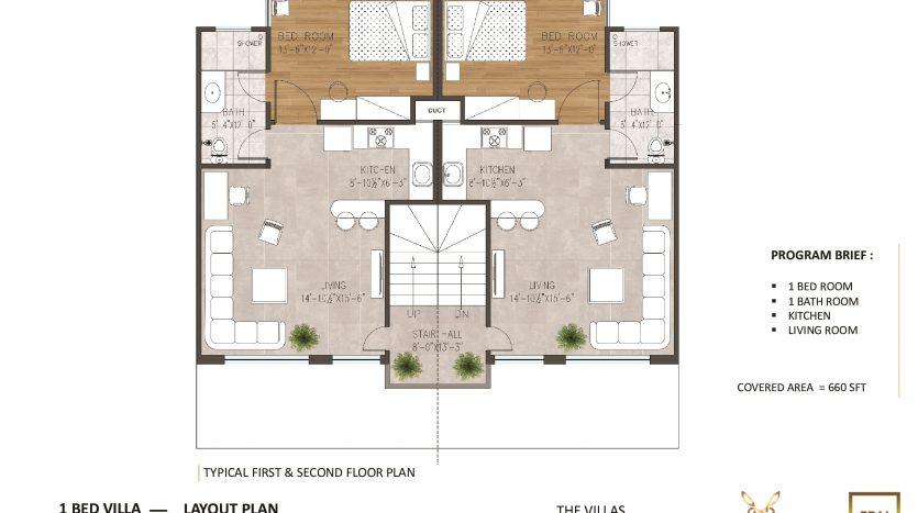 villa apartment 3.5 marla floor plan