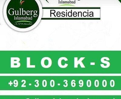 Gulberg Residencia Block S