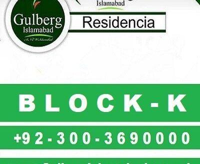 Gulberg Residencia Block K